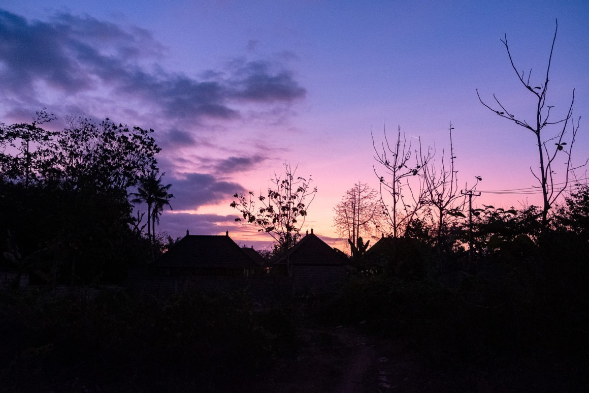 Coucher de soleil à Nusa Lembongan