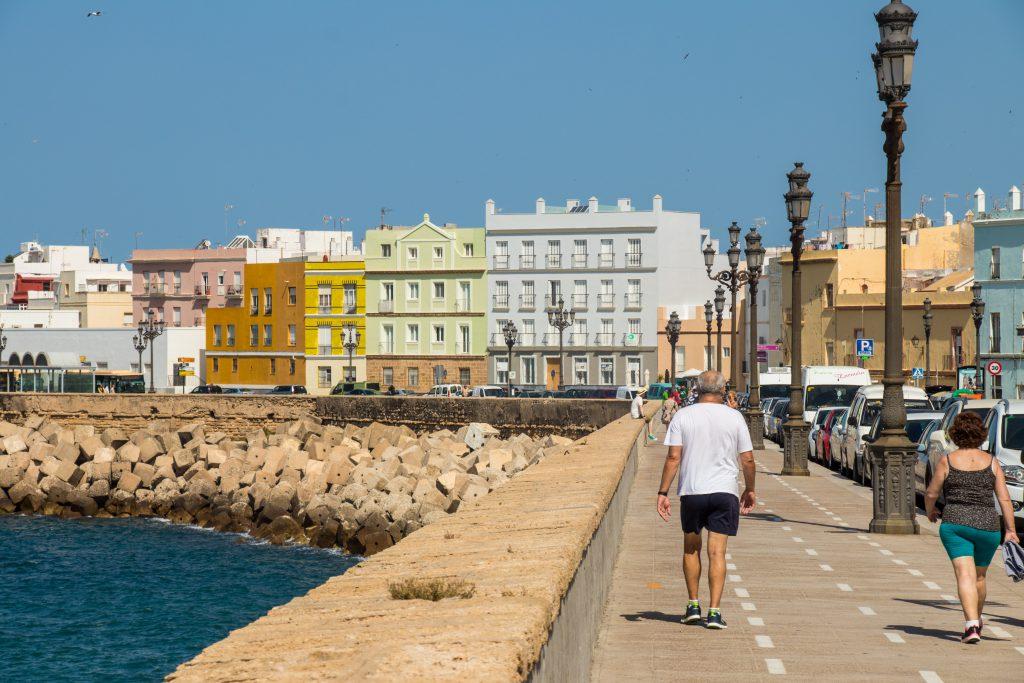 Le bord de mer de Cadix