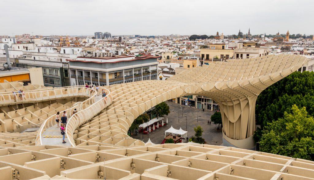Le Metropol Parasol à Séville donne l'occasion d'admirer la vue