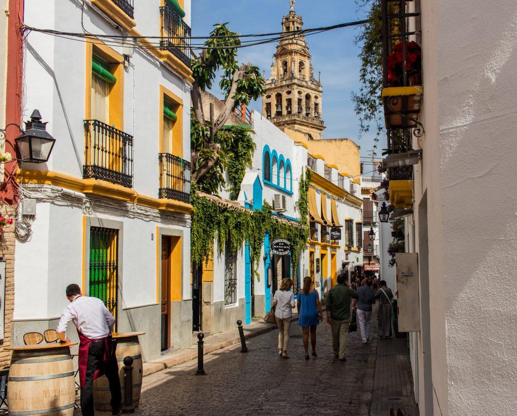 Les rues colorées de Cordoba en Andalousie