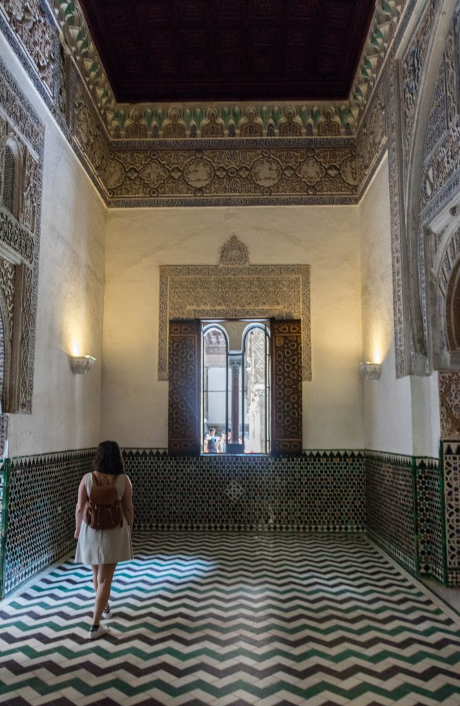 A l'intérieur de l'Alcazar, Séville