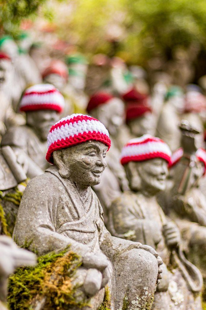 Les petits bouddhas du temple Daisho-in à Miyajima