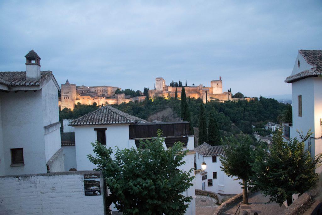 Coucher de soleil sur l'Alhambra depuis l'Albaicin
