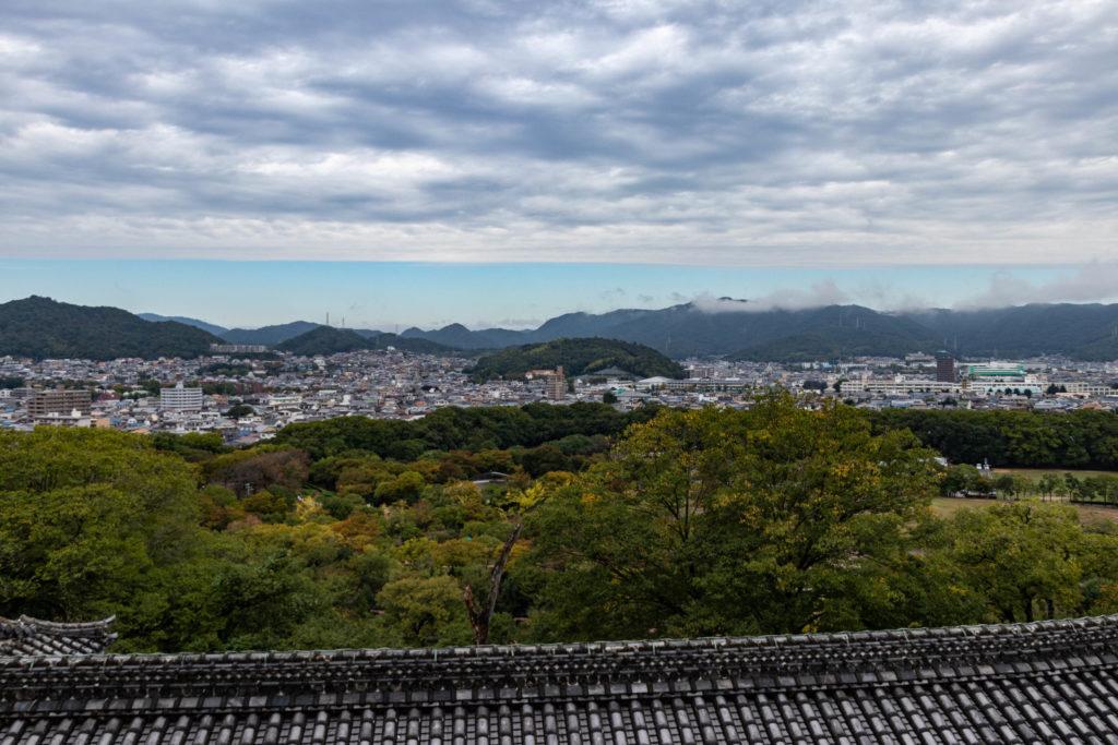 Vue depuis le château d'Himeji au Japon
