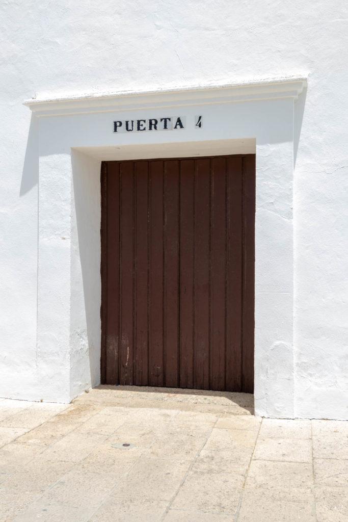 Puerta 4 à la Plaza de Toros de Ronda