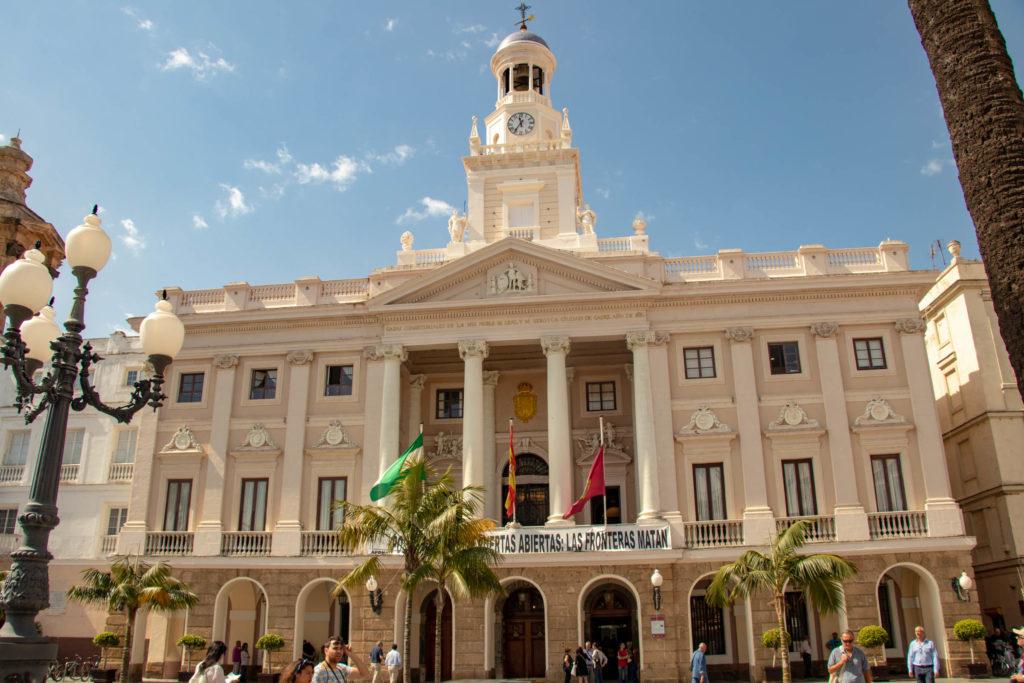 L'hotel de ville à Cadiz