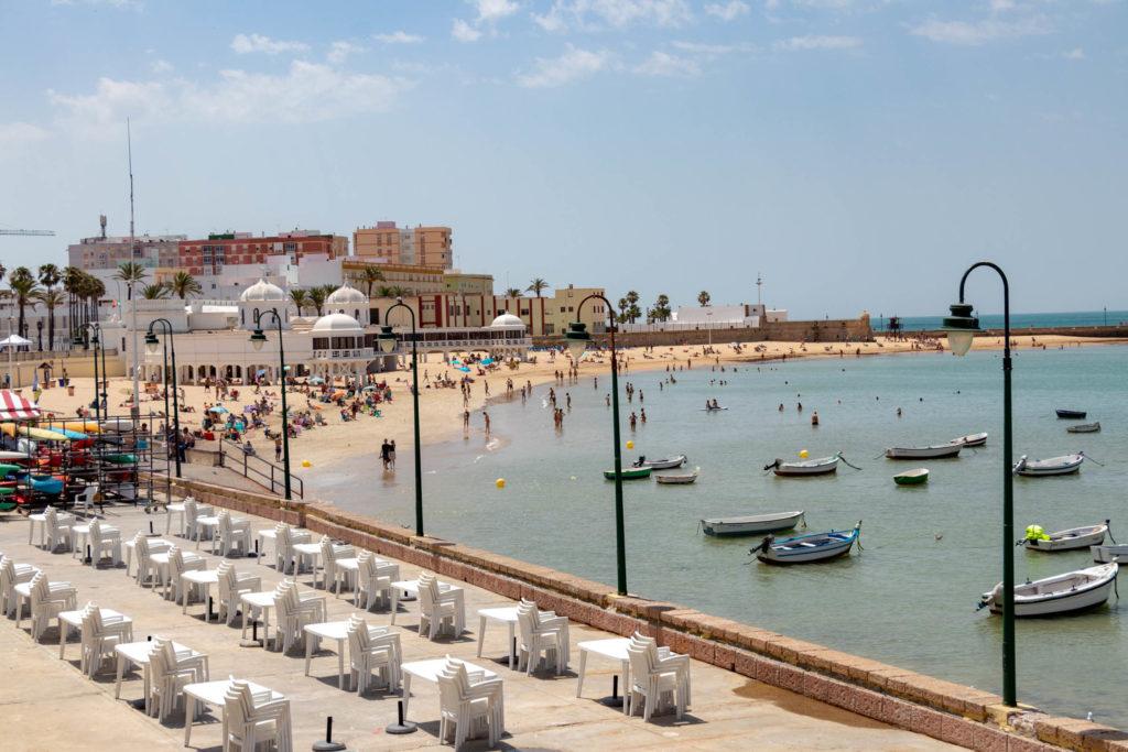 La plage de la Caleta à Cadiz