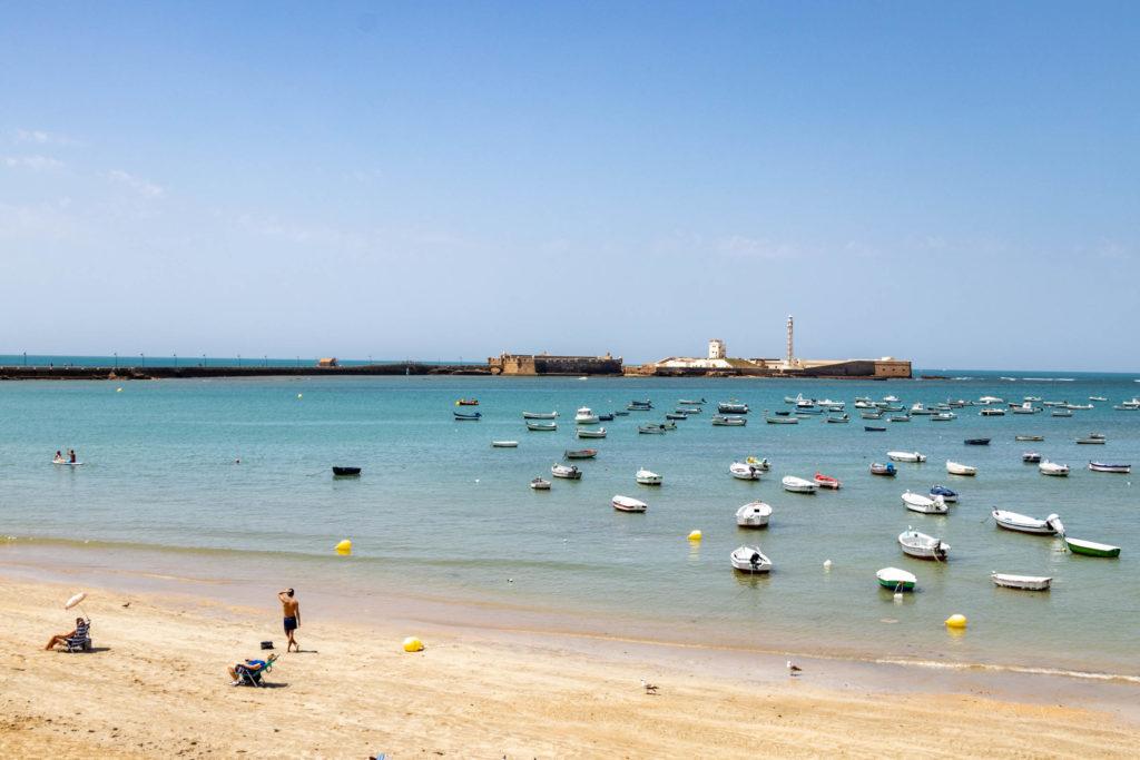 La plage à Cadiz