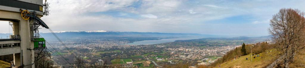 Photo panoramique depuis le Salève