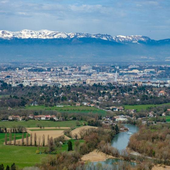 Vue sur Genève depuis le Salève