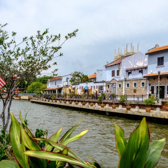 Bord de rivière à Malacca