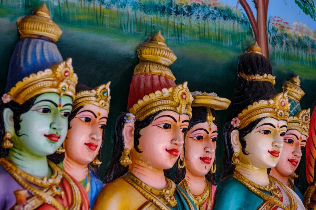 Sri Mahamariamman Temple, détail visages