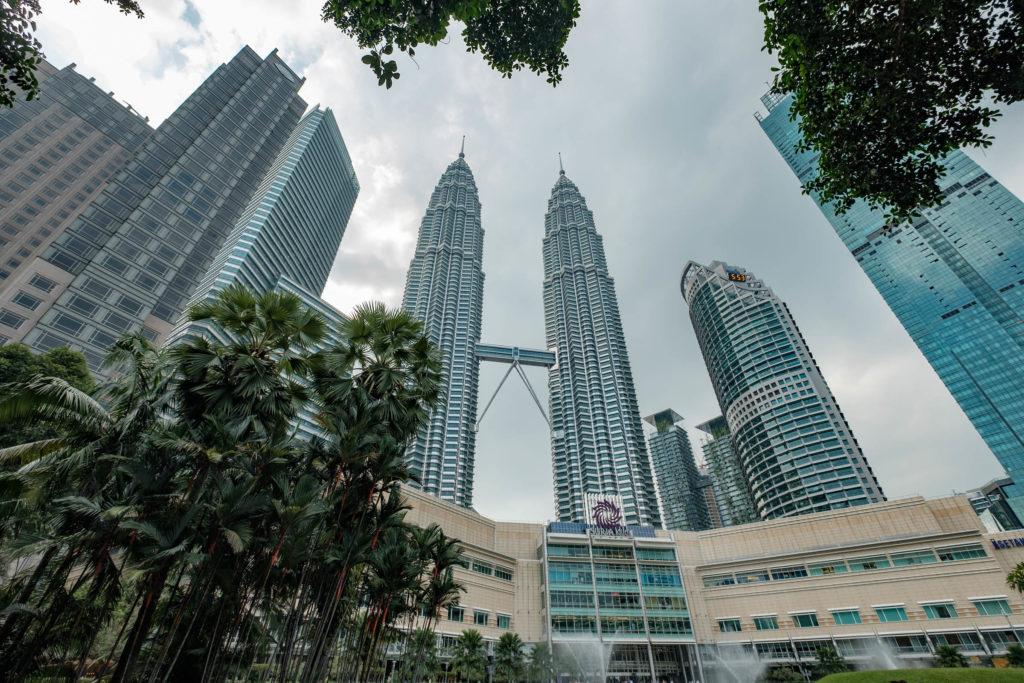 Les tour Petronas à Kuala Lumpur