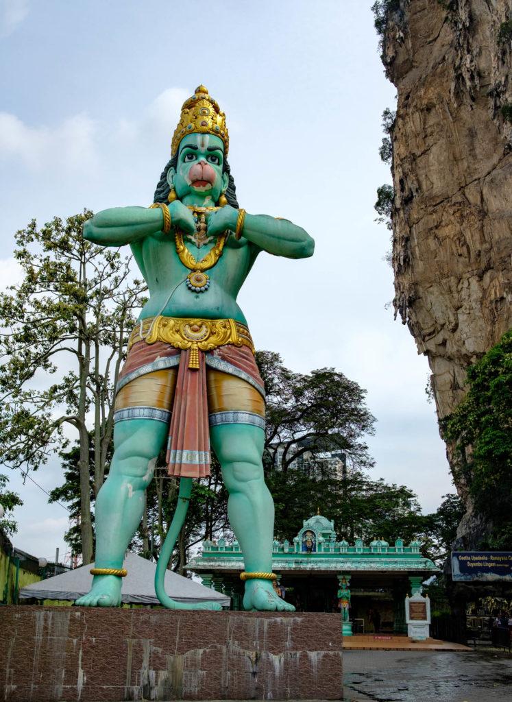 Statue dieu Hanuman aux Batu Caves