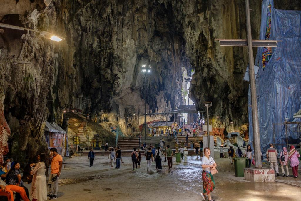 Vue des grottes de Batu Caves