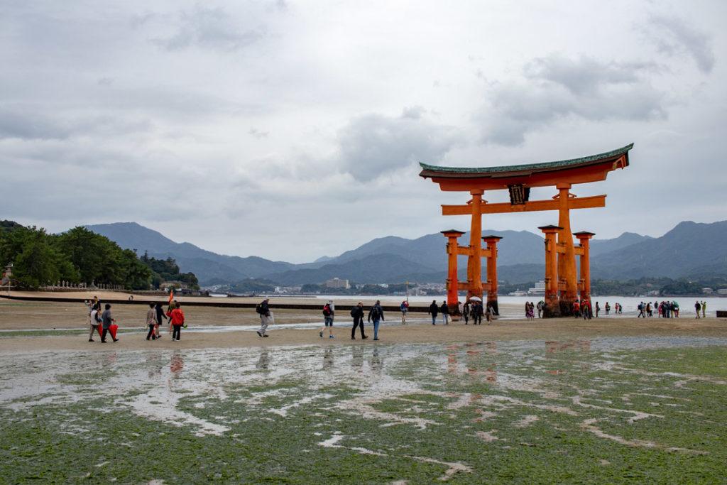Torii flottant à marée basse - Miyajima
