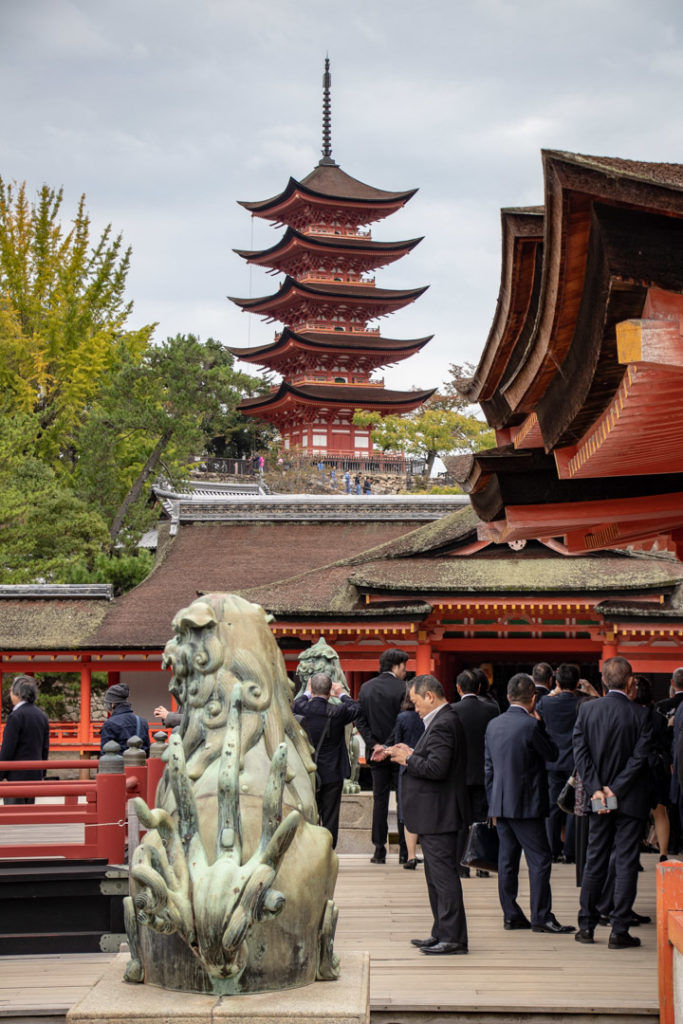 la pagode 5 étages depuis Itsukushima