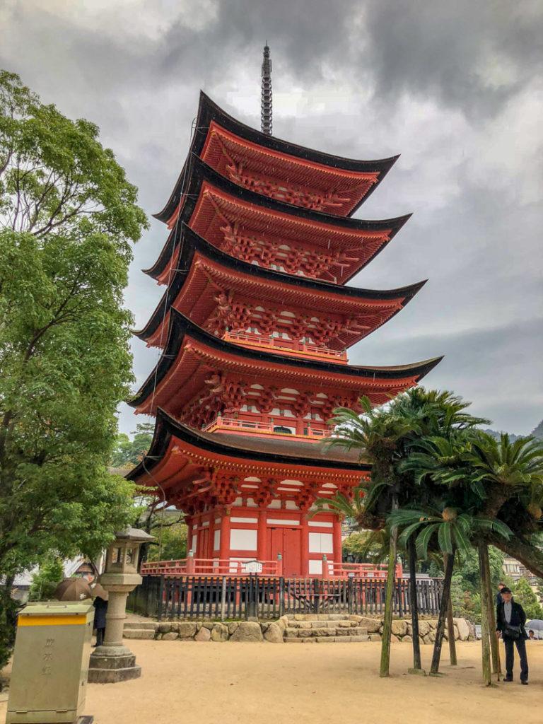 La pagode à 5 étages de Miyajima