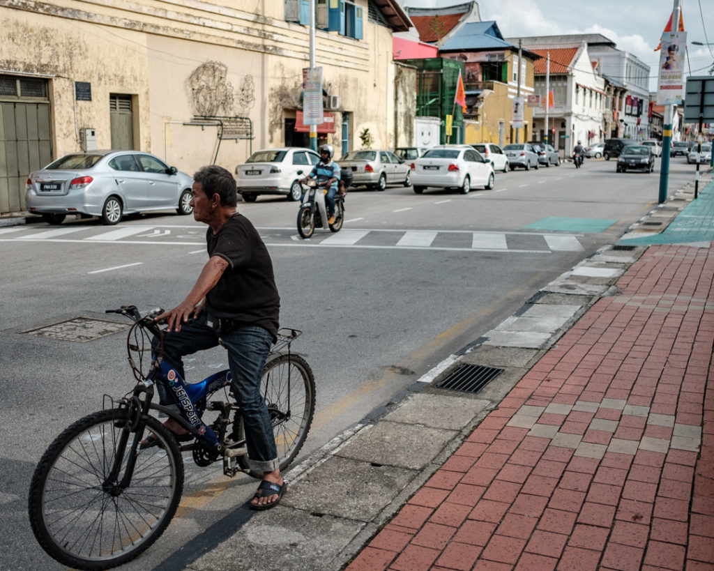 Cycliste à George Town