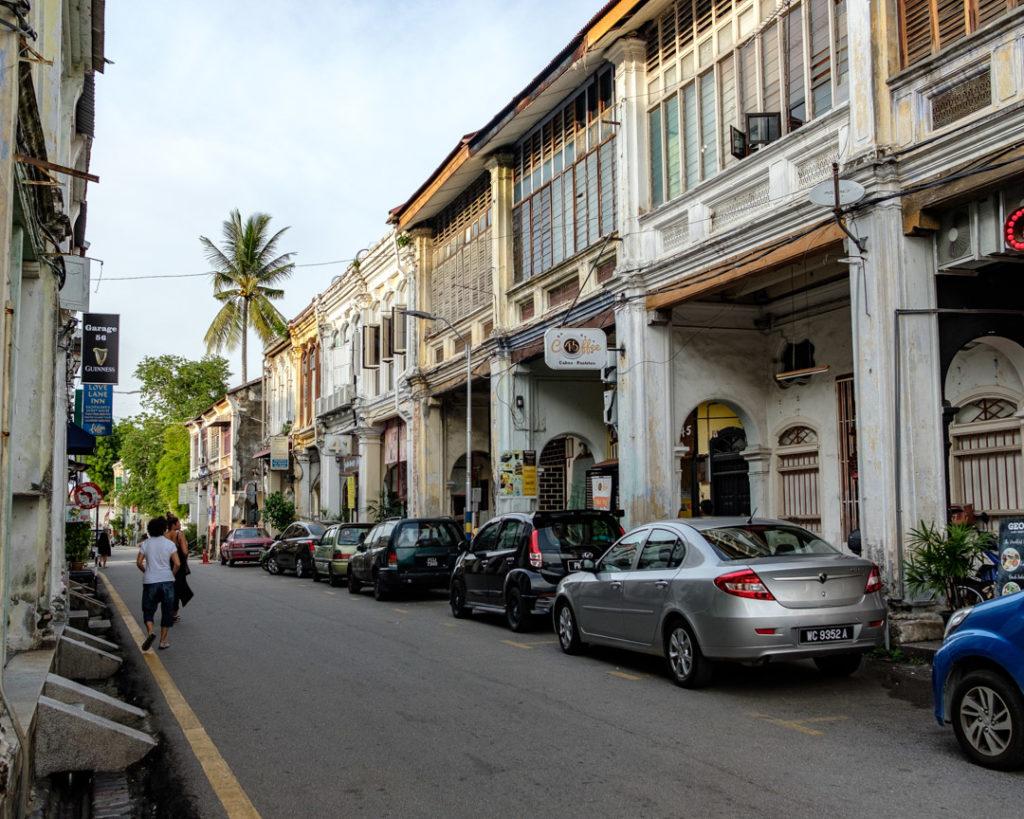Rue de George Town en Malaisie
