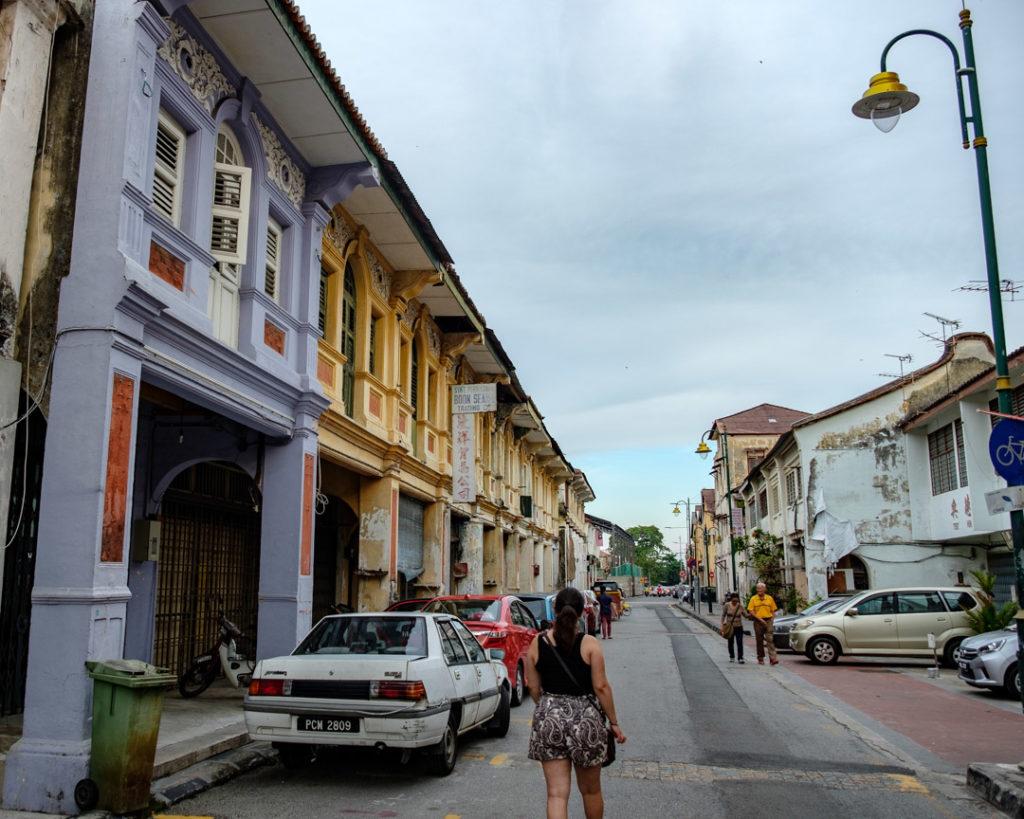 Rue à George Town en Malaisie