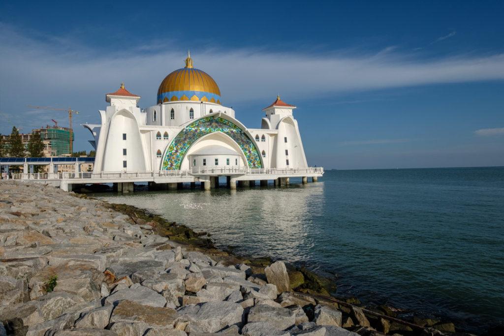 La mosquée flottante de Malacca
