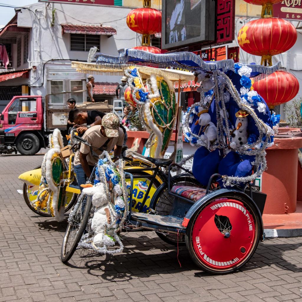 Les trishaws de Malacca