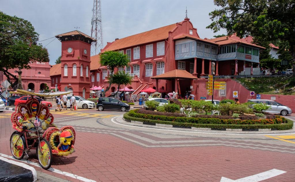 La place rouge de Malacca