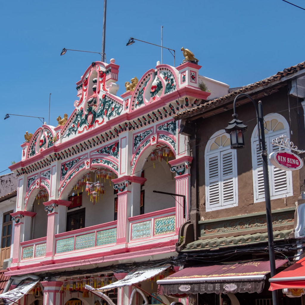 Façade rose Malacca