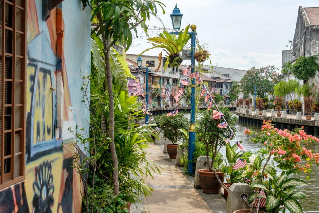 Le long des quais de Malacca