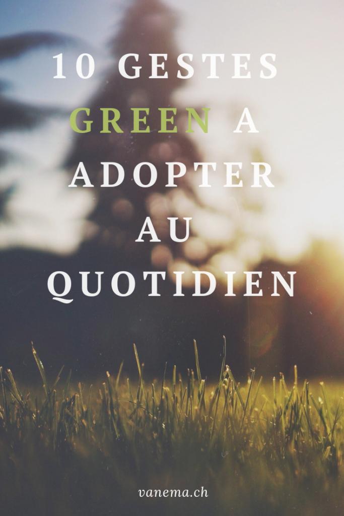 image pinterest pour 10 gestes green à adopter