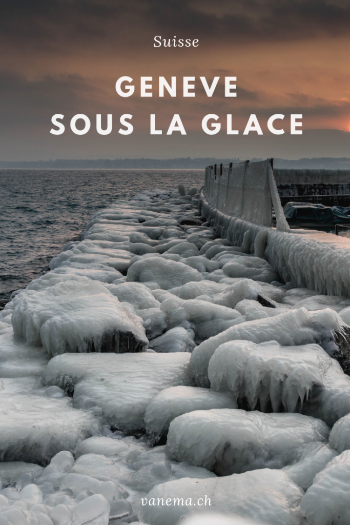 Image pinterest de Genève sous la glace