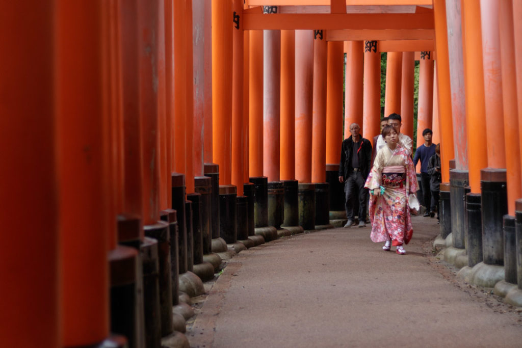 Torii au Sanctuaire Fushimi-Inari