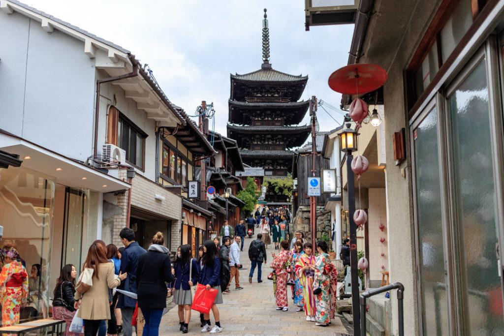 Le quartier de Gion est un des quartiers les plus traditionnels de Kyoto.