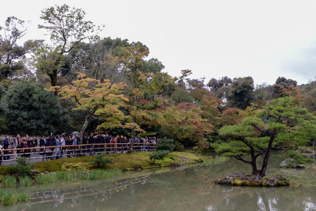 Le Jardin du Pavillon d'Or/Kinkaku-ji et ses nombreux touristes