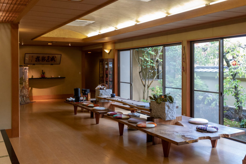 A l'intérieur du ryokan à Nara