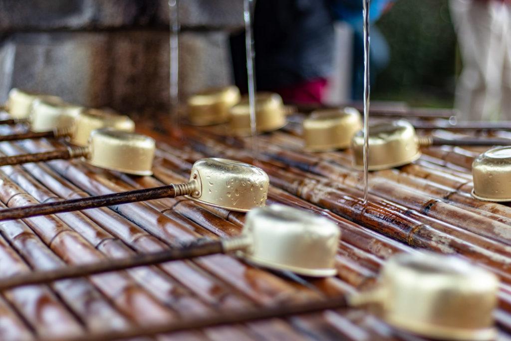 Les fontaines pour se purifier à nara