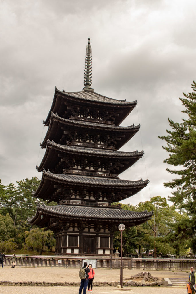 La pagode à 5 étages à Nara