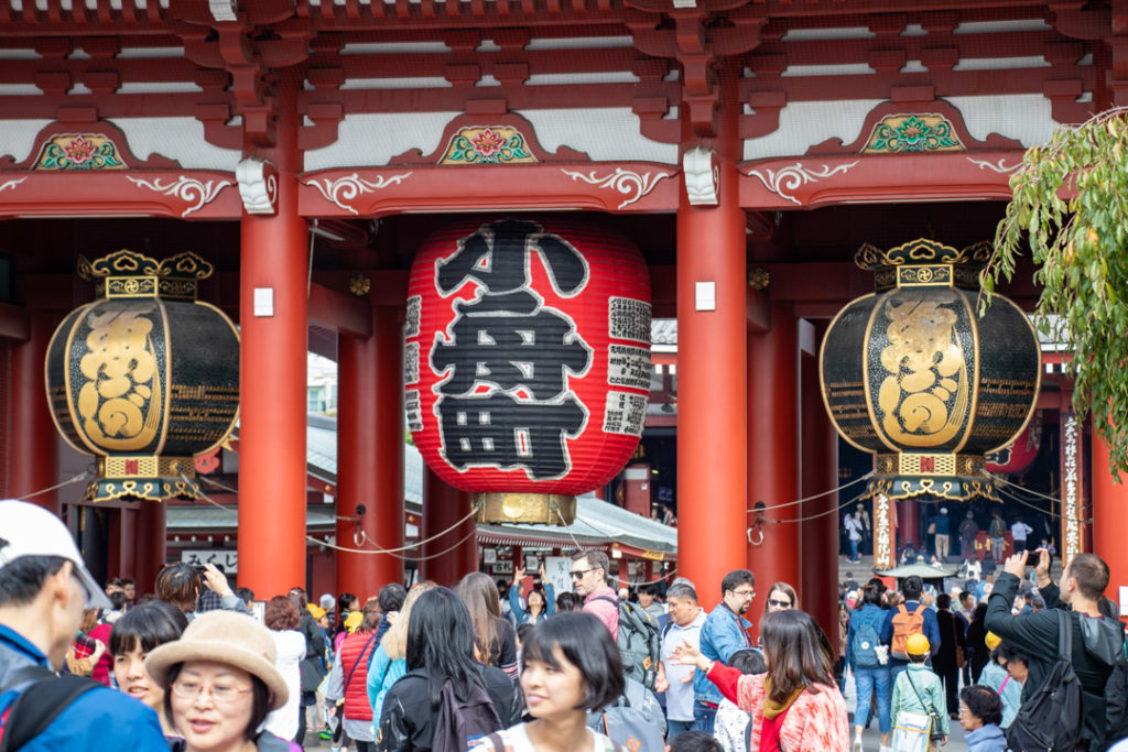 Porte de Kaminarimon à Tokyo