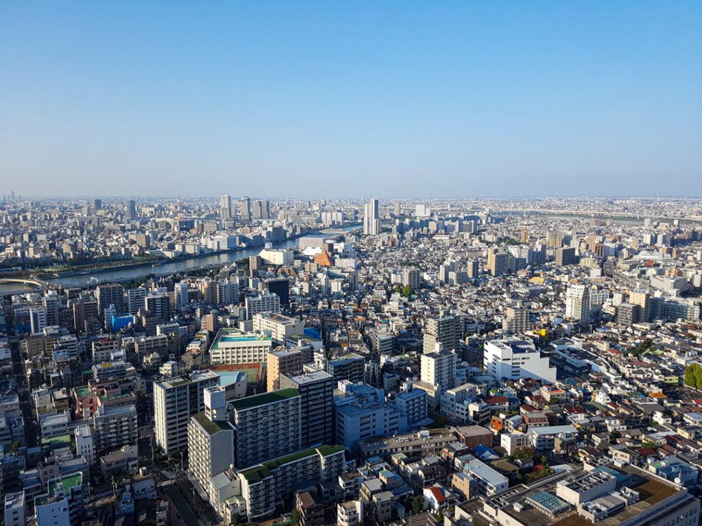 Vue sur Tokyo depuis la Skytree Tower