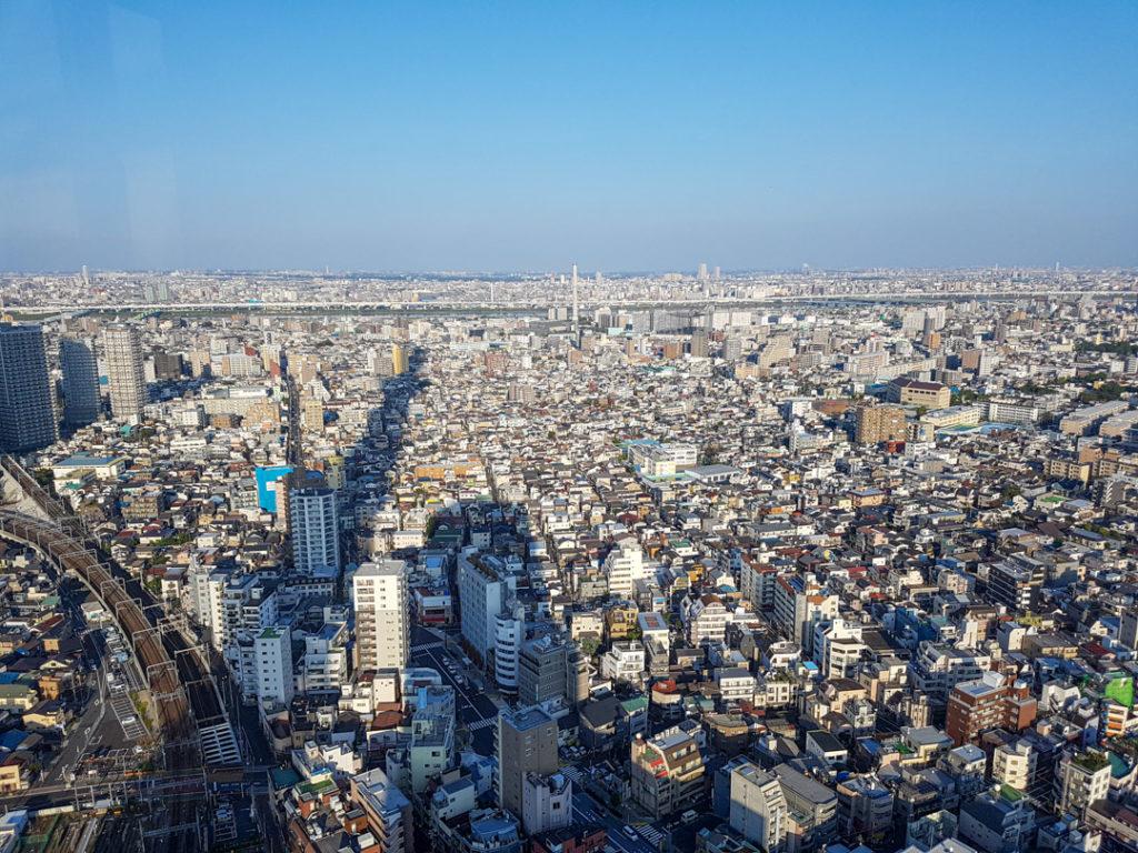 Vue sur Tokyo depuis Skytree Tower