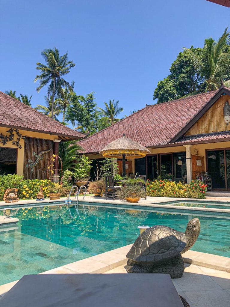 La piscine de la Villa Gusmania à Bali