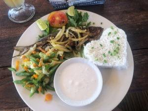 Plat de poisson à Nusa Lembongan