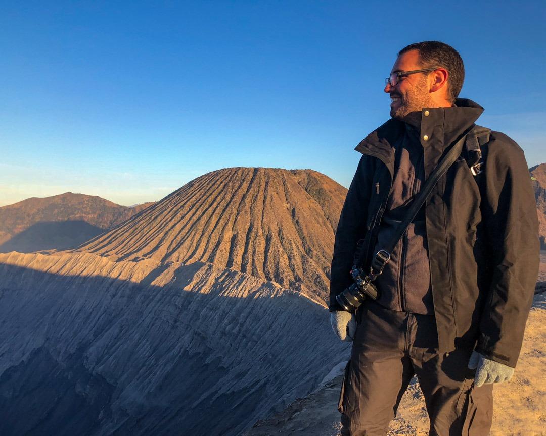 Ivan sur le Mont Bromo
