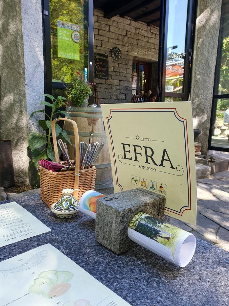 Groto Efra situé à quelques minutes du village de Sognono dans le Val Verzasca