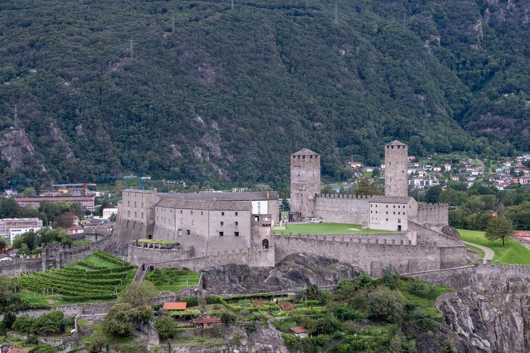 Le château de Montebello offre une belle vue sur le Castelgrande
