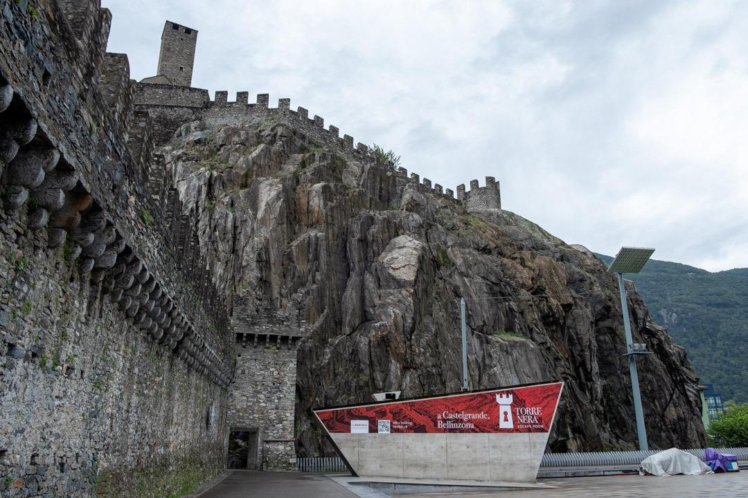 Il est possible d'accéder au Castelgrande directement depuis le centre ville de Locarno