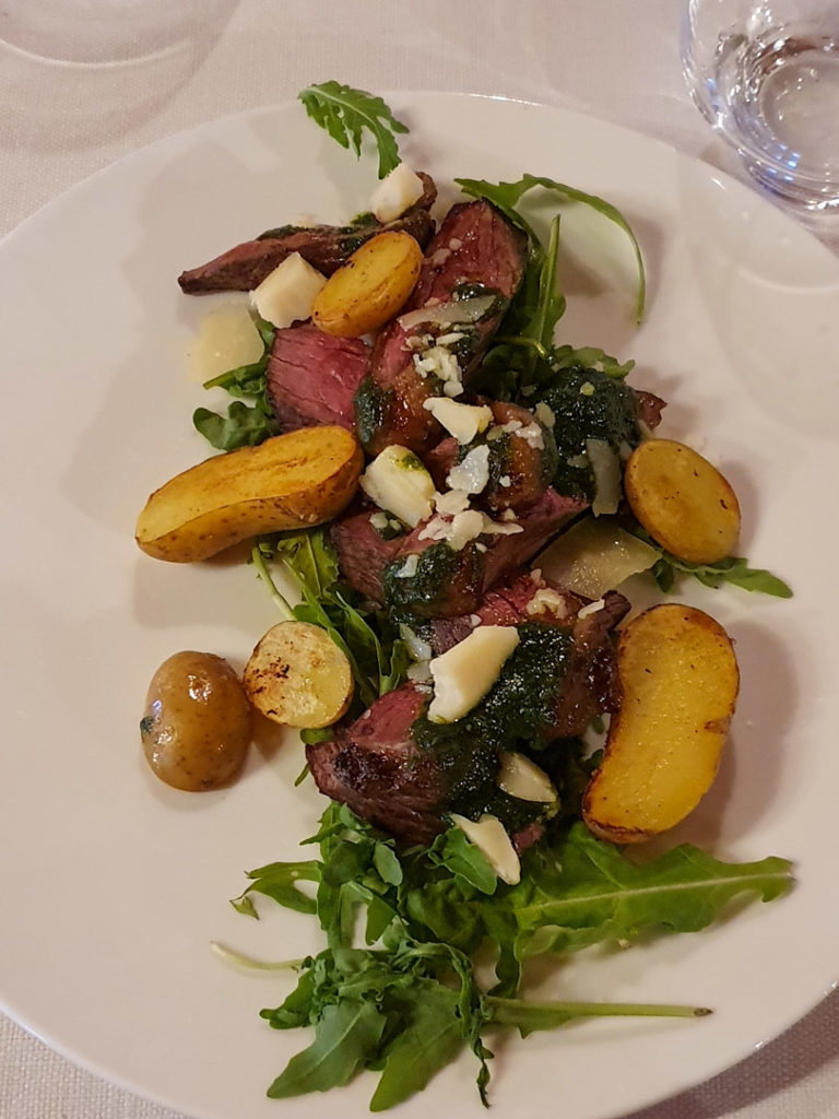 Picanha de Boeuf aux Restaurant des Cerniers, Whitepod