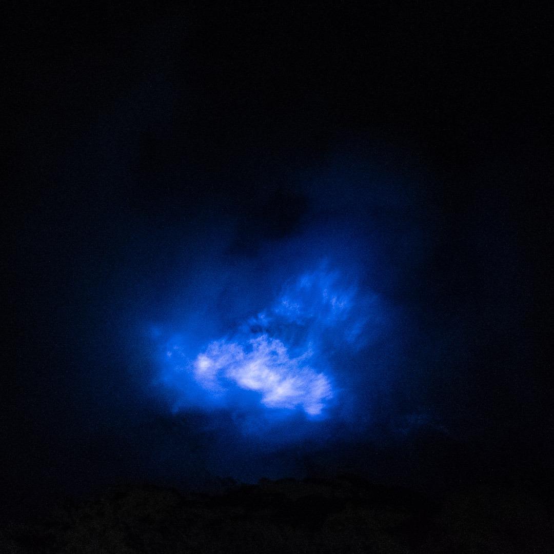 Blue flames sur le Kawah Ijen
