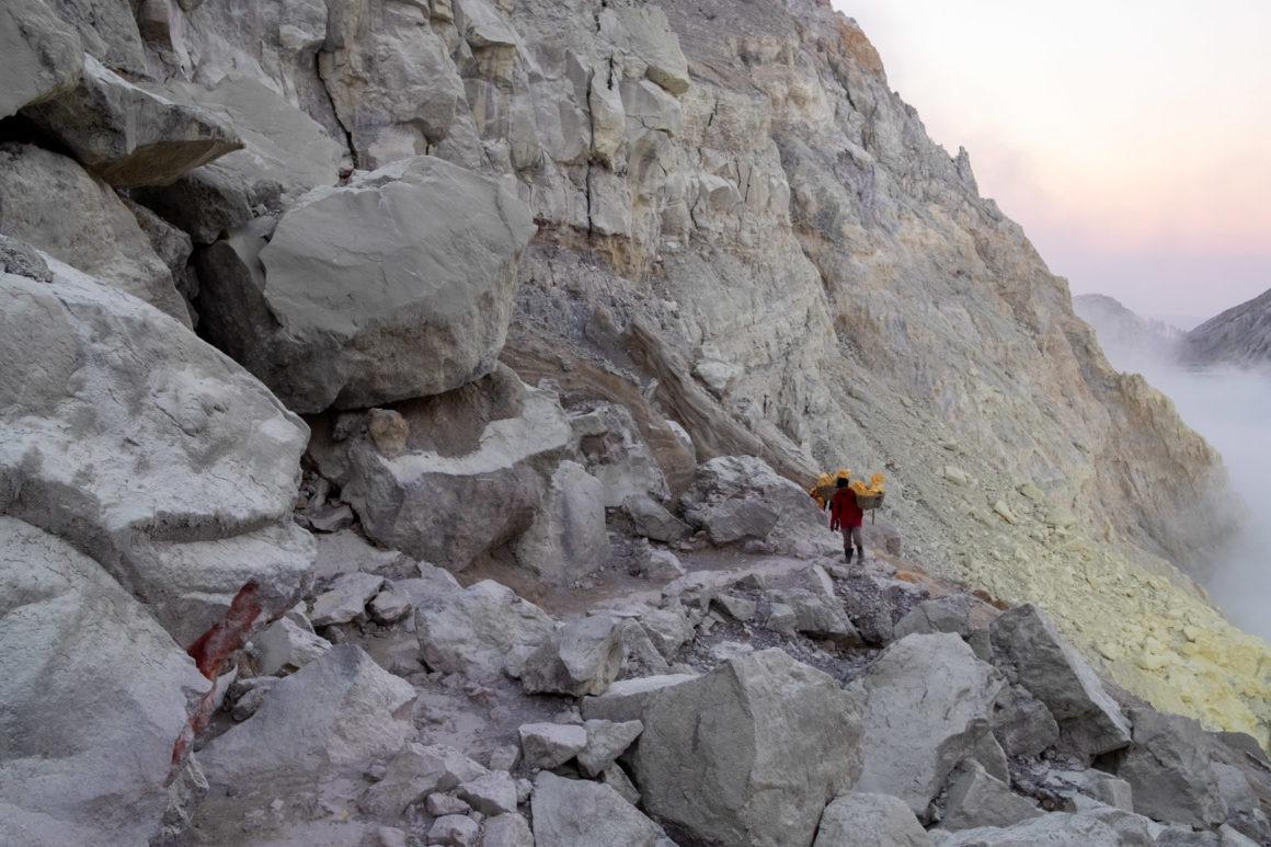 Vue du cratère Kawah Ijen